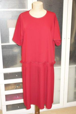 Org. MM6 MAISON MARGIELA Runway oversized Kleid mit plissiertem Rock in rot wie neu Gr.32-42