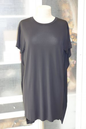 Org. MM6 Maison Margiela Superman Shirt dress/long Shirt in schwarz Gr.L