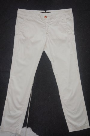 Org. MONOCROM Chino slim in wollweiß Gr.30 top