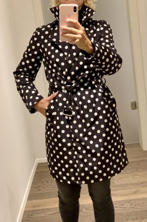 MOSCHINO Cheap & Chic Quilted Coat black-white
