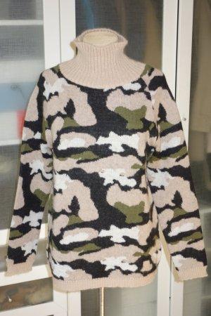 Org. MSGM Rollkragen-Pullover mit Camouflage Muster Gr.36/38