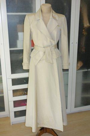 Mugler Manteau long beige clair coton