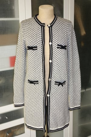 Knitted Coat natural white-black
