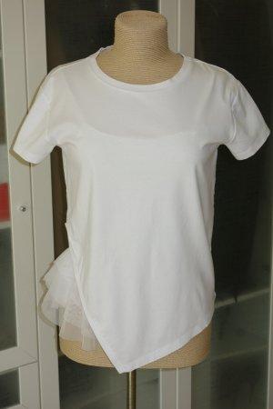 Org. PATRIZIA PEPE Shirt mit Mesh-Top Gr.38