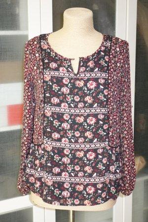Org. PEPE Jeans London Schlupf-Bluse mit Blumen-Print Gr.36