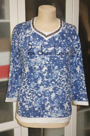 Org. PEPE Jeans Sweatshirt mit Print und Applikationen Gr.34/36