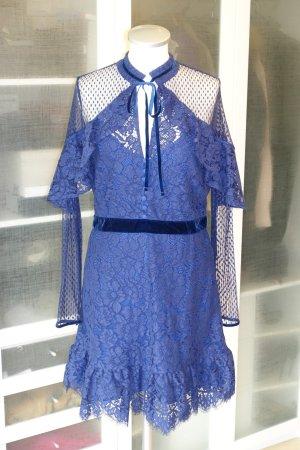 Org. PERSEVERANCE London Kleid aus Spitze in dunkelblau Gr.38  NEU+Etikett