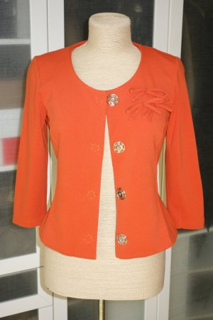 Org. PIU & PIU Blazer/Jacke in orange mit Blumen-Applikation Gr.38