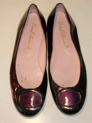 Org. PRETTY BALLERINAS in pflaume/violett Gr.40 Lackleder