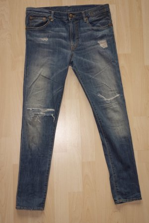 Org. R13 distressed skinny Jeans mit heller Waschung Gr.28