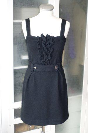 Org. RED VALENTINO Minikleid aus Wolle mit Details in schwarz Gr.S