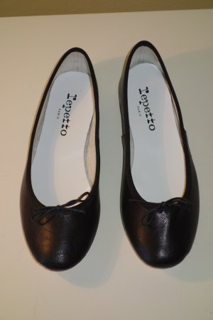 Org. REPETTO Ballerinas aus Leder in schwarz Gr.36 NEU