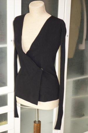 Org. RICK OWENS Lilies Cardigan in schwarz mit langen Ärmeln Gr.XS
