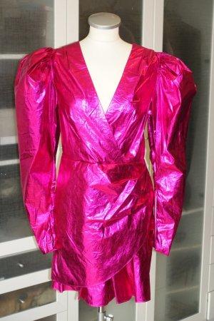 Org. ROTATE Birger Christensen metallic mini Kleid in himbeere Gr.34 NEU+Etikett
