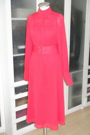 Org. ROTATE Birger Christensen Number 37 midi dress in rot Gr.40 NEU+Etikett