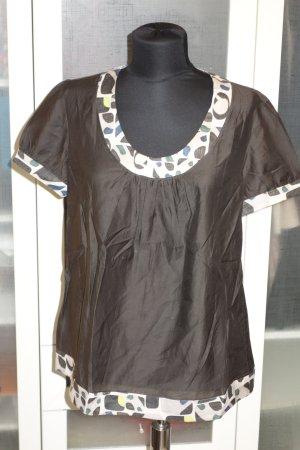 Org. S'MAX MARA Shirt mit Muster Gr.40 Seide