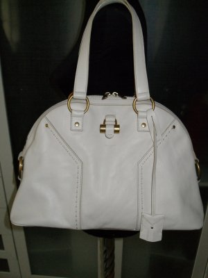 Org. SAINT LAURENT Muse bag in weiß/creme wie neu