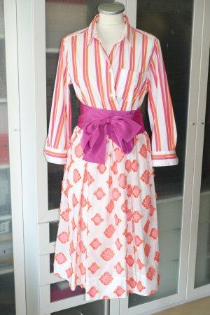 Org. SARA ROKA Blusenkleid mit gemustertem Stoff und Taillenband Gr.40