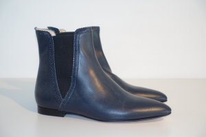 Scho Shoes Milano Chelsea Boot bleu foncé cuir