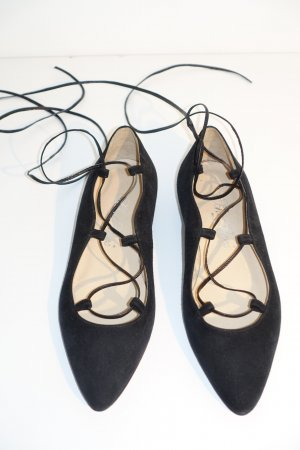 Scho Shoes Milano Ballerinas with Toecap black leather