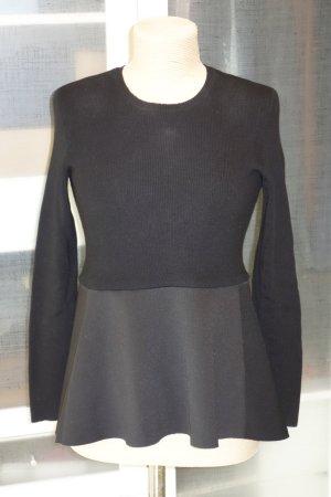 Org. SCHUMACHER Strick-Pullover mit Peplum-Saum aus Nylon Gr.36