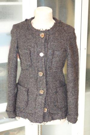 Chaqueta de lana marrón oscuro Lana