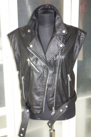 SET Urban Deluxe Leather Vest black leather