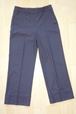 Pantalone culotte blu scuro Lana vergine