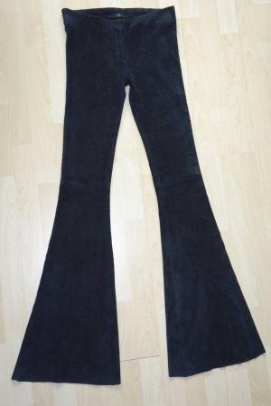 Org. SLY 010 Schlag-Lederhose aus Stretch-Veloursleder in schwarz Gr.36 NEU