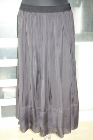 0039 Italy Silk Skirt black silk