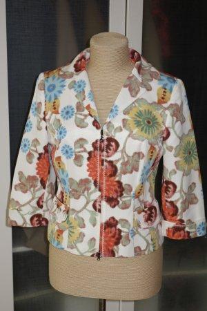 Org. SONIA BOGNER Jacke/Blazer aus Seide mit Blumen-Print  Gr.36