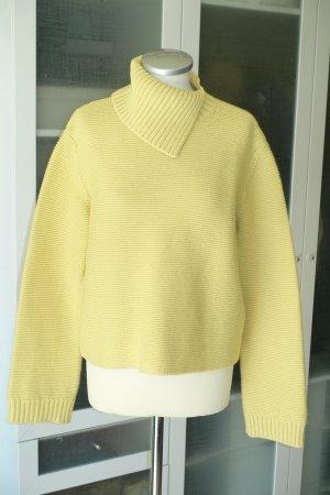 Org. STELLA McCARTNEY Pullover in gelb mit Kastenform und tollem Rollkragen Gr.38