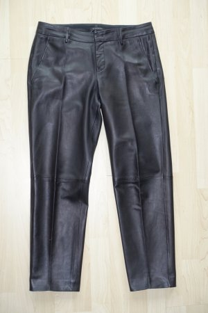 Strenesse Pantalón de cuero negro Cuero