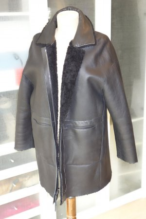 Strenesse Leather Coat black leather
