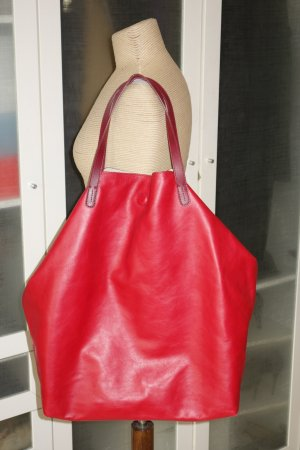 Strenesse Shopper dark red-red leather
