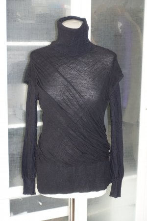 Org. TALBOT RUNHOF Rollkragen-Pullover mit wrap-Details schwarz Gr.M