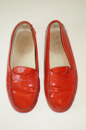 Org. TOD'S Loafer aus Lackleder in orange Gr.37,5