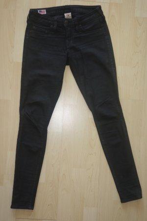 Org. TRUE RELIGION skinny Jeans gewachst Gr.25 schwarz