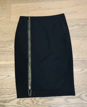 Org. TRUSSARDI Pencil Skirt, Bleistiftrock mit Reißverschluss NEU Gr. 36 38 schwarz