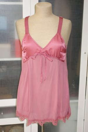 Org. TWIN SET Simona Barbieri Top in rosa mit Materialmix NEU+Etikett Gr.S