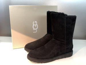 Org. UGG Abree Short Lammfell Boots in schwarz NEU+Karton 41