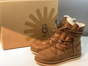 Org. UGG Lodge Lammfell Schnür-Boots 36 NEU+Karton