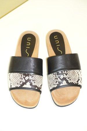Org. UNISA Sandalen aus Leder mit Schlangen-Muster Gr.39 wie neu