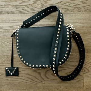 Org. VALENTINO Rockstud Saddle Bag schwarz TOP überall ausverkauft