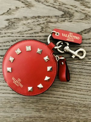 Valentino Key Chain red-gold-colored leather