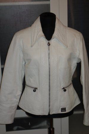 Versace Leather Jacket white leather