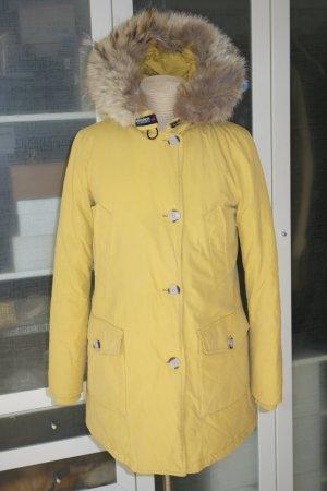 Org. WOOLRICH Arctic Parka Byrd Cloth in gelb Gr.M