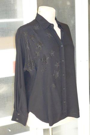 Org. ZADIG & VOLTAIRE oversized Bluse mit Strass-Sternen Gr.XS