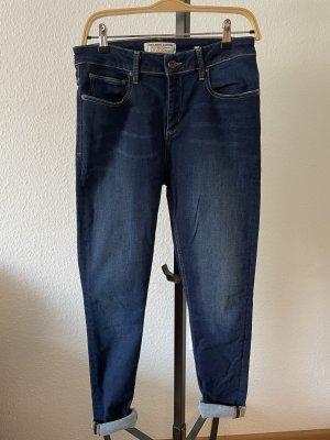 Kuyichi Jeans a vita alta blu scuro