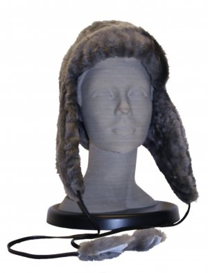 Fur Hat grey brown fur